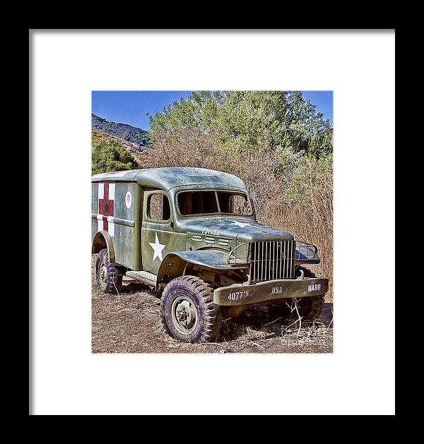 Truck Framed Print featuring the digital art M.a.s.h Property 1 by Jason Abando