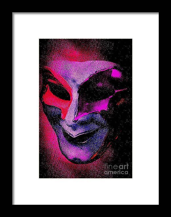 Blair Stuart Framed Print featuring the photograph Masks We Hide Behind by Blair Stuart