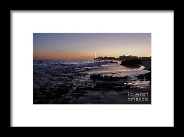 Maspalomas Sunset Framed Print featuring the photograph Maspalomas Sunset by Urban Shooters