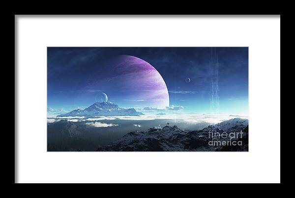 Artwork Framed Print featuring the digital art Massive Lei Gong Rises In The Distance by Brian Christensen