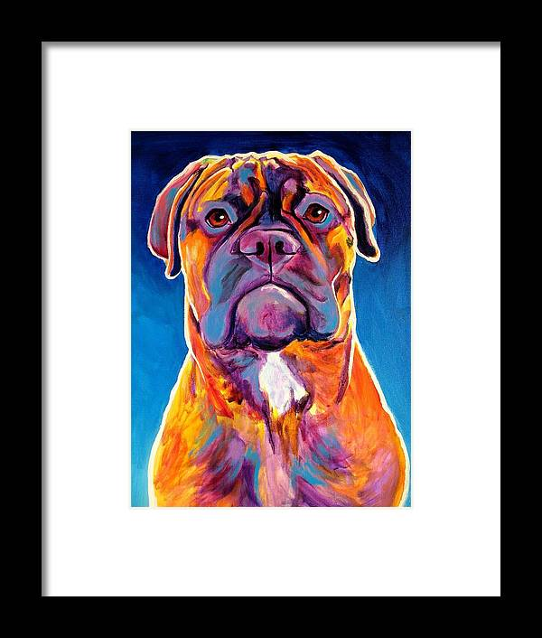 Dawgart Framed Print featuring the painting Bullmastiff - Lexi by Alicia VanNoy Call