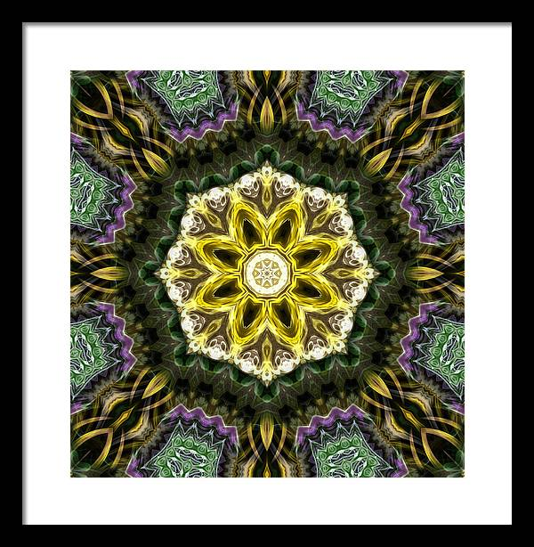 Motifs Framed Print featuring the photograph Mata29 by KH Lee