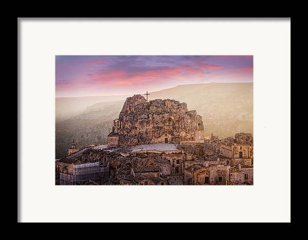 Colour Framed Print featuring the photograph Matera Sassi by Michael Avory