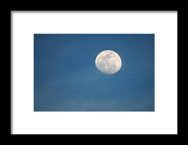 Moon Framed Print featuring the photograph May Moon by Christine Stonebridge