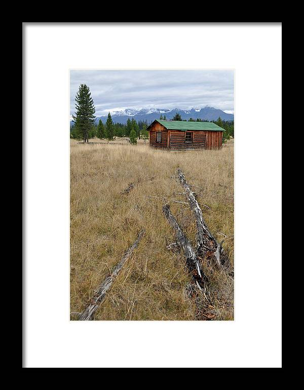 Mccarthy Framed Print featuring the photograph Mccarthy Family Cabin Glacier National Park by Bruce Gourley