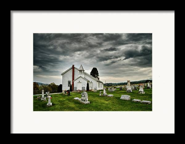 Chapel Framed Print featuring the photograph Mcelwee Chapel Series II by Kathy Jennings