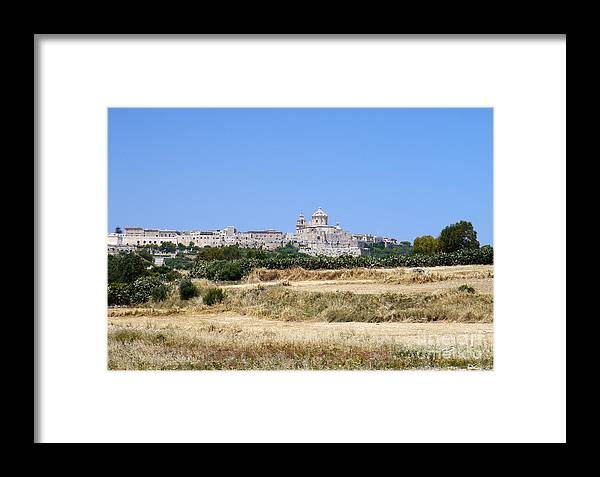 Mdina Framed Print featuring the photograph Mdina by John Chatterley