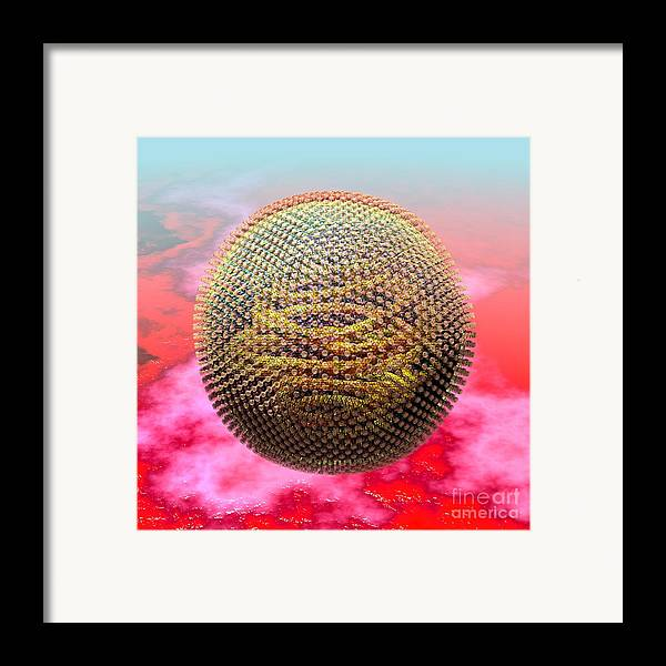 Biological Framed Print featuring the digital art Measles Virus by Russell Kightley