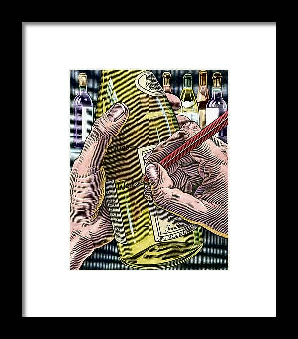 Human Framed Print featuring the photograph Measuring Alcohol Intake, Artwork by Bill Sanderson