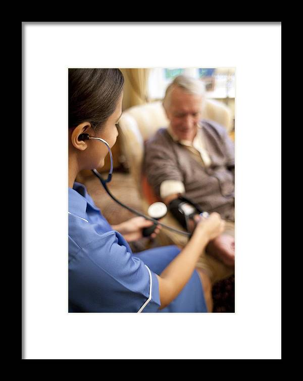 20-24 Years Framed Print featuring the photograph Measuring Blood Pressure by