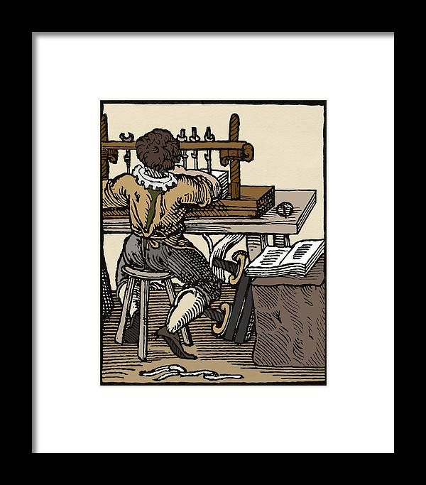 Mediaeval Framed Print featuring the photograph Mediaeval Book Manufacture by Sheila Terry