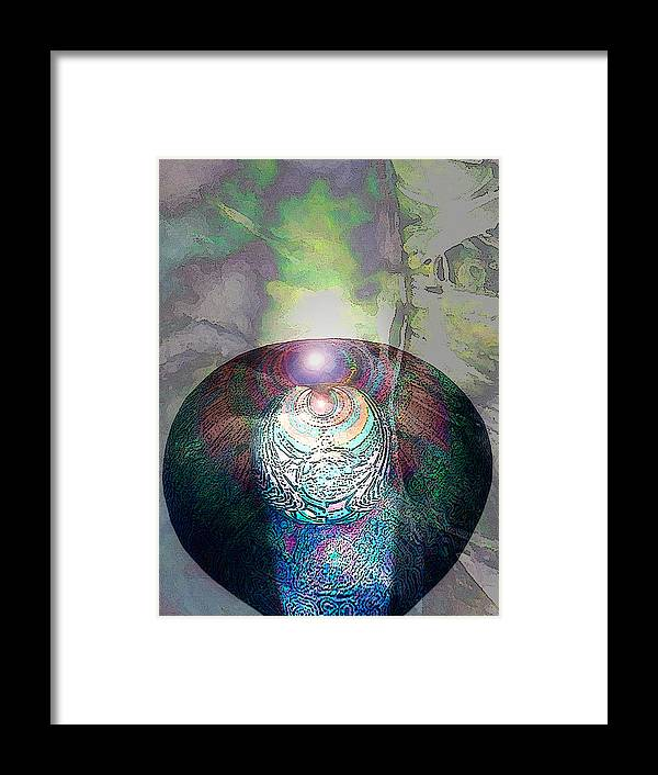 Neoglyph Framed Print featuring the digital art Medicine Bowl by George Page