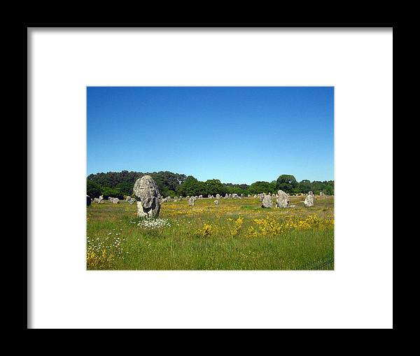 Carnac Framed Print featuring the photograph Megaliths - The Sequel by Alexandre Lafreniere