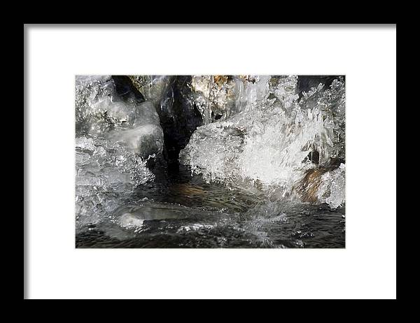 Waves Framed Print featuring the photograph Melting Ice by Patrick Kessler