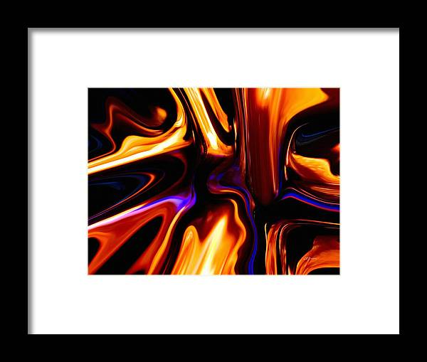 Melting Point Of Gold Framed Print featuring the digital art Melting Point Of Gold by Greg Reed Brown