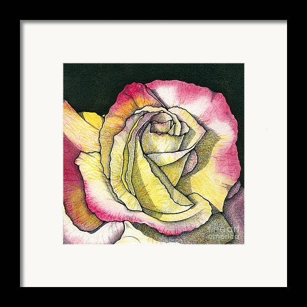 Rose Framed Print featuring the painting Memories by Nora Blansett