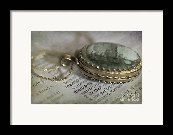 Jewelry Framed Print featuring the photograph Memory by Elena Nosyreva