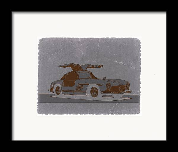 Framed Print featuring the photograph Mercedes Benz 300 by Naxart Studio