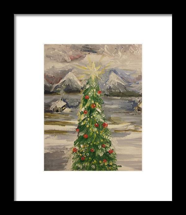 Abstract Framed Print featuring the painting Merry Christmas by Jennifer Henson