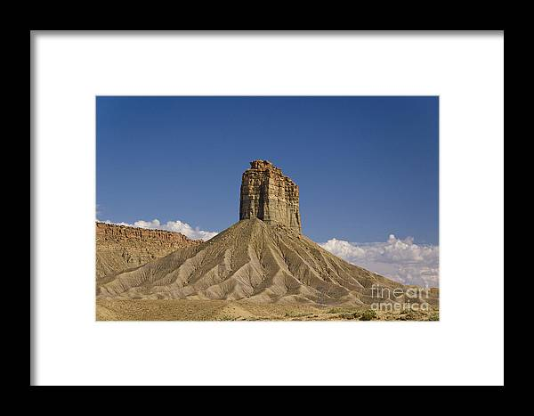 Mesa Framed Print featuring the photograph Mesa Spire by Tim Mulina