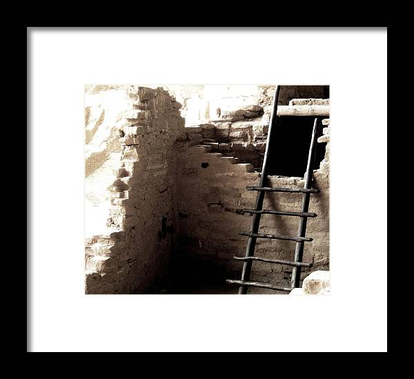 Ladder Framed Print featuring the photograph Mesa Verde by Amara Roberts