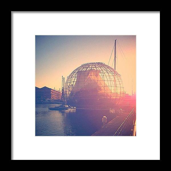 Harbour Framed Print featuring the photograph Message In A Bubble #travel #italy #ig by A Rey