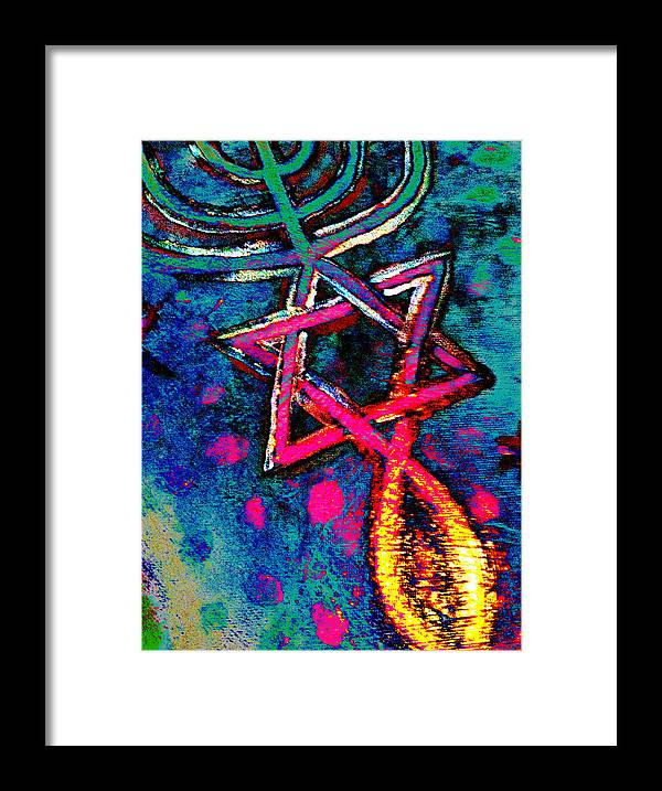 Messianic Framed Print featuring the digital art Messianic Colors by Pamela Manning