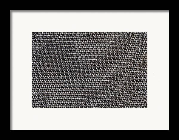 Mesh Framed Print featuring the photograph Metal Meshwork by Dirk Wiersma