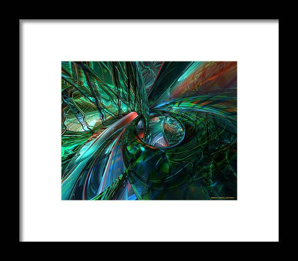 Canvas Framed Print featuring the digital art Metal N Shattered Glass Fx by G Adam Orosco