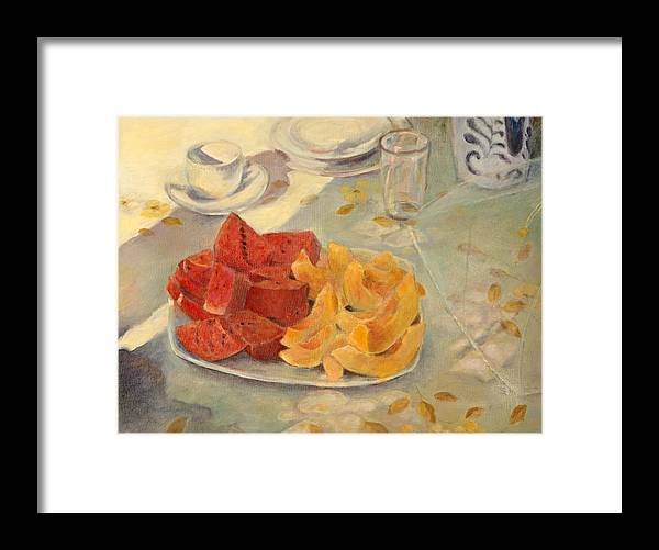 Fruit Framed Print featuring the painting Mexican Breakfast by Rita Bentley