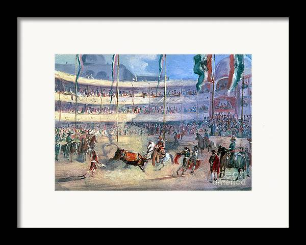 1833 Framed Print featuring the photograph Mexico: Bullfight, 1833 by Granger