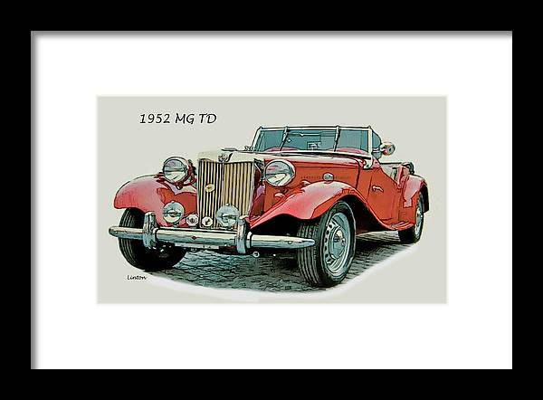 Mg Td Framed Print featuring the digital art Mg Td by Larry Linton