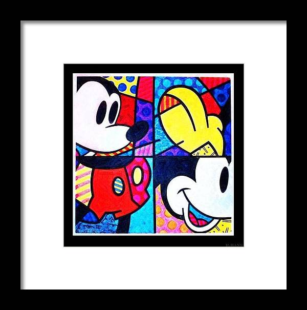 Mickey Mouse Framed Print featuring the photograph Mickey Colors by Rob Hans