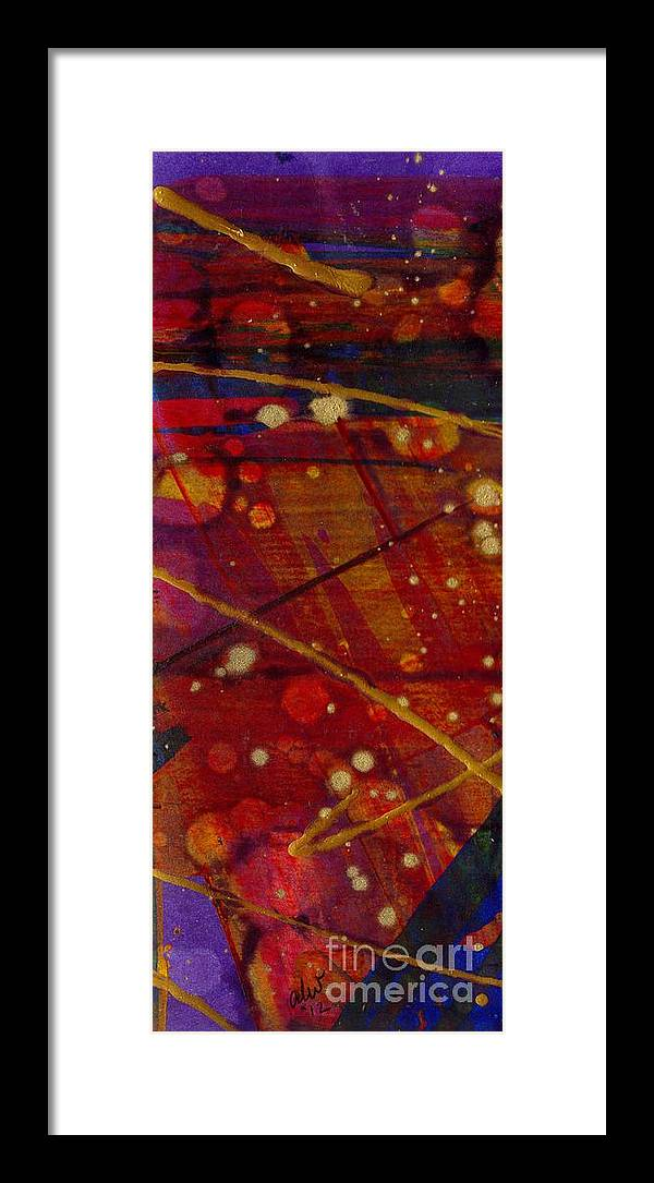 Acrylic Framed Print featuring the painting Mickey's Triptych - Cosmos II by Angela L Walker