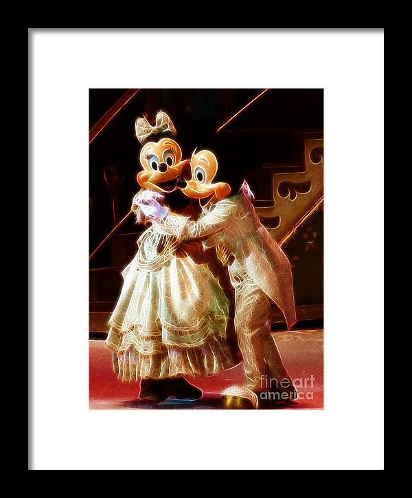 Mickey Mouse Framed Print featuring the photograph Micky And Minnie Mouse Skate by Darleen Stry