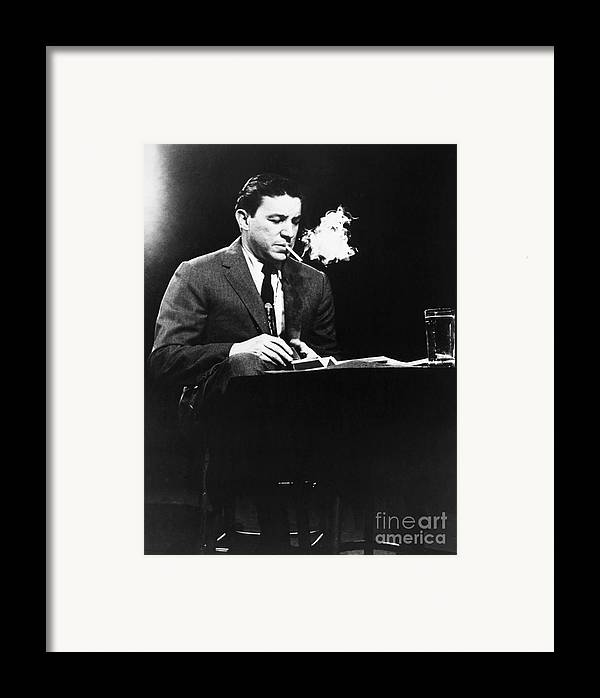 20th Century Framed Print featuring the photograph Mike Wallace (1918-2012) by Granger