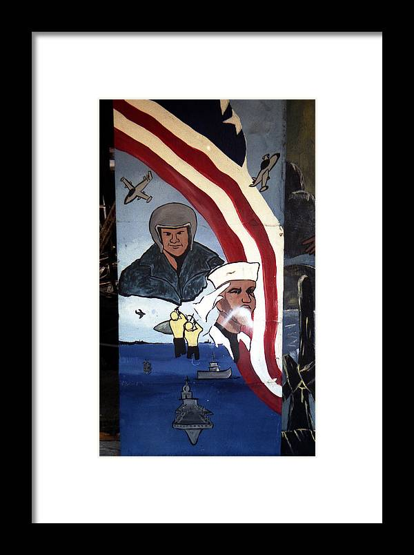 Louisiana Framed Print featuring the photograph Military Mural by Doug Duffey
