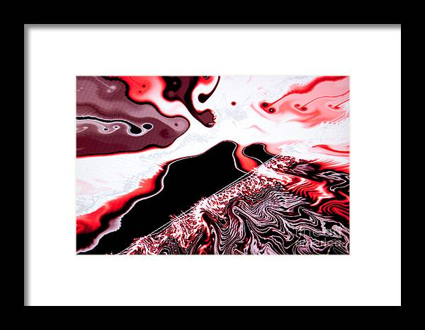 Abstract Framed Print featuring the photograph Milk And Blood by Tashia Peterman