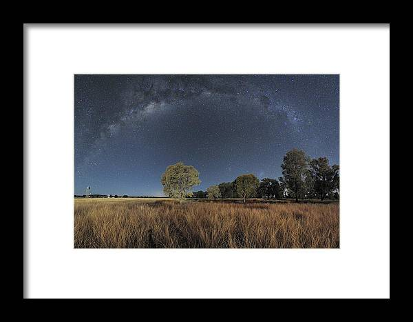 Milky Way Framed Print featuring the photograph Milky Way Over Parkes Observatory by Alex Cherney, Terrastro.com