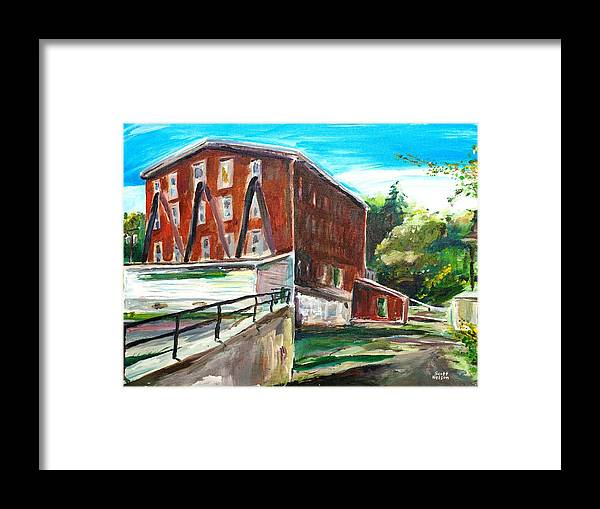 Mill Framed Print featuring the painting Millbury Mill by Scott Nelson