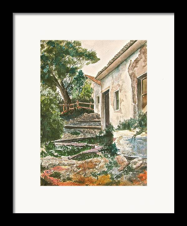 Greece Framed Print featuring the painting Millstone Aria by Frank SantAgata