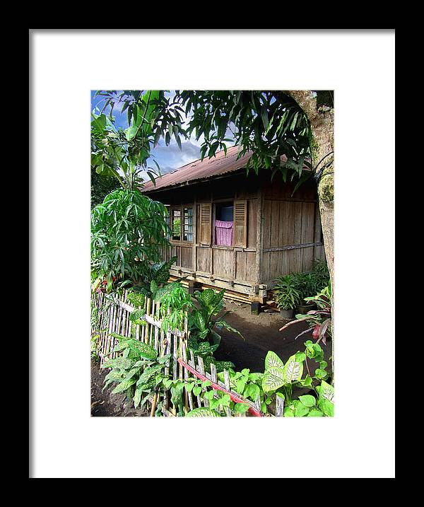 Architecture Framed Print featuring the photograph Minahasa Traditional Home 1 by Mark Sellers