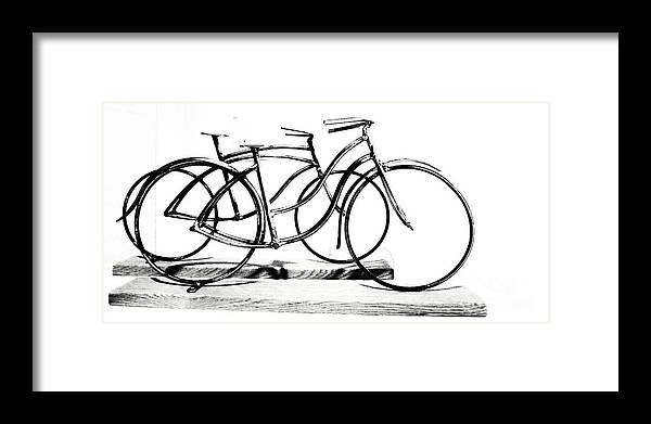 Scuplture Framed Print featuring the digital art Minimalist cycles by Rrrose Pix