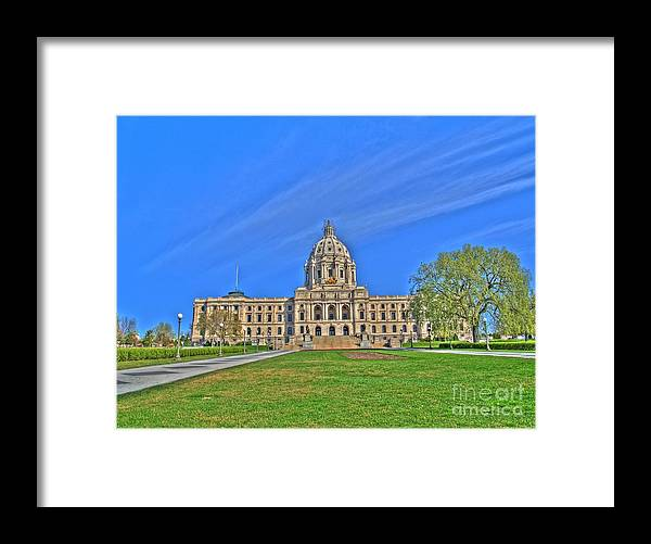 Minnesota Framed Print featuring the photograph Minnesota State Capital Iv by Jimmy Ostgard