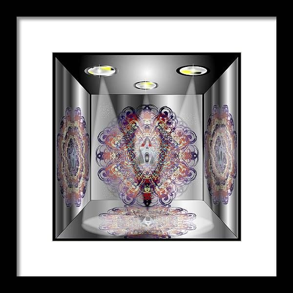 Abstract Framed Print featuring the digital art Mirror Box Ghost by George Pasini