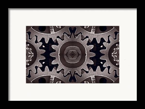 Gear Framed Print featuring the photograph Mirror Gears by Steve Gadomski