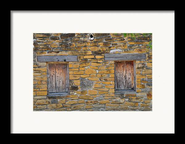 Mission Framed Print featuring the photograph Mission Dwelling Windows by Peter McIntosh