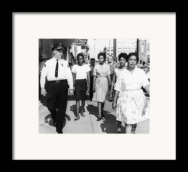 1963 Framed Print featuring the photograph Mississippi: Sit-in, 1963 by Granger
