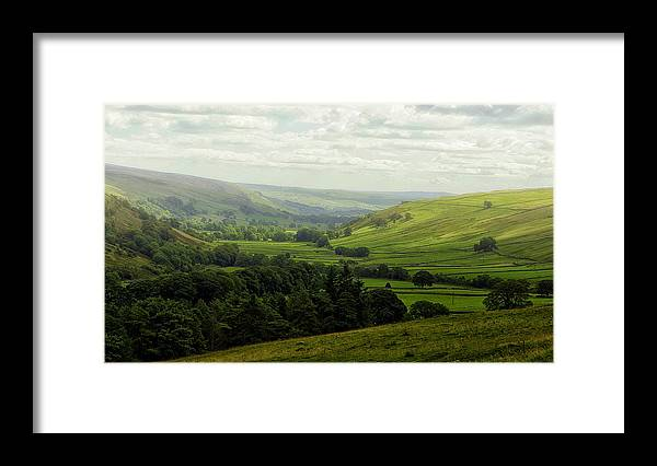 Yorks Framed Print featuring the photograph Mist In The Dale by Trevor Kersley