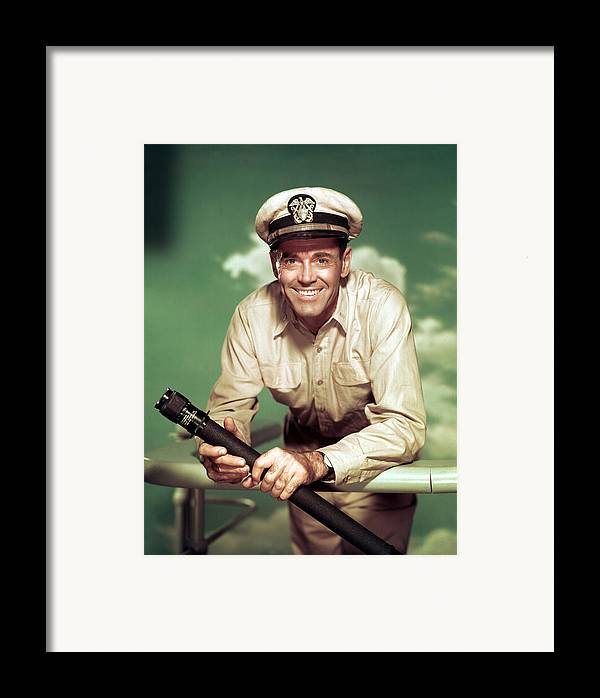 1950s Movies Framed Print featuring the photograph Mister Roberts, Henry Fonda, 1955 by Everett